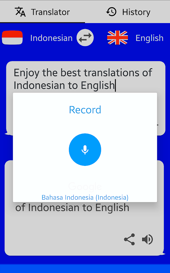 English To Italian Translator Google: Indonesian English Translator ( Text To Speech )