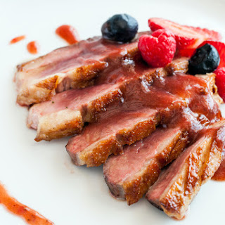 Duck Breasts with Blackberry Chipotle Sauce.