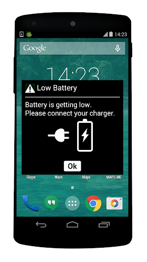 fake battery low