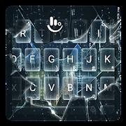 Broken 3D Glass Rain Keyboard Theme