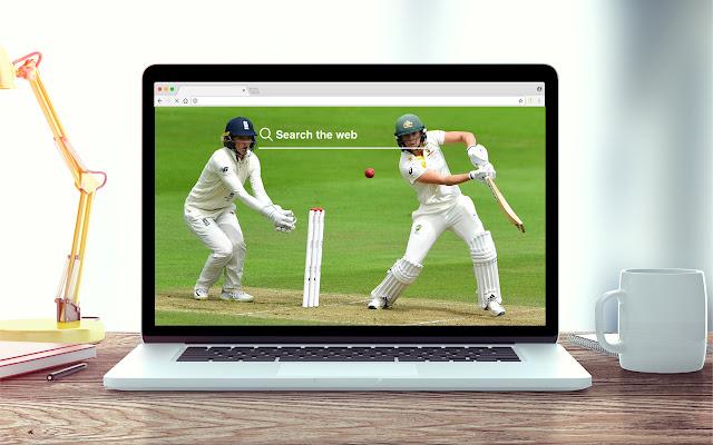 Crickets New Tab Sports Theme