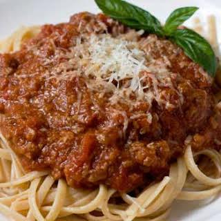 Spaghetti ala Bolognese.