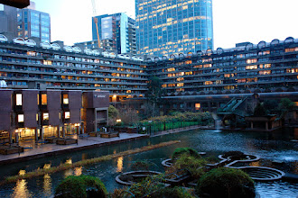 Photo: The famous Barbican apartment complex. City of London.