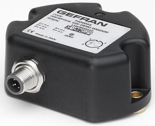 Inclinómetros GEFRAN GIG simples de 2 ejes XY 360º
