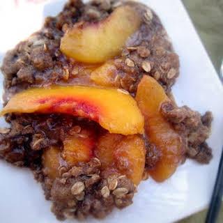 Gluten-Free Peach Crisp.