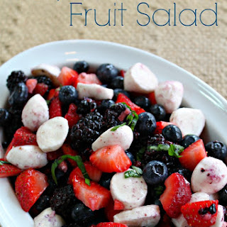 Red, White & Blue Fruit Salad