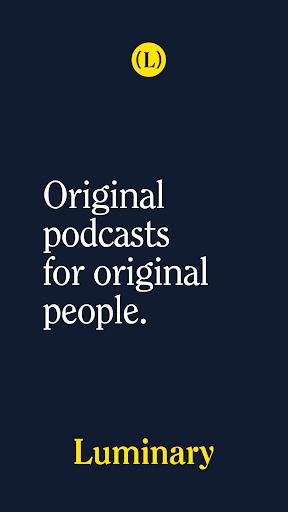 Luminary - Podcast App screenshots 1