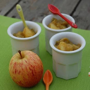 Stewed Apple and Rhubabrb in Almond Flavored Sugar