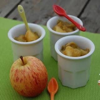 Stewed Apple and Rhubabrb in Almond Flavored Sugar.