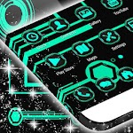 Neon Green Tech Theme Apk