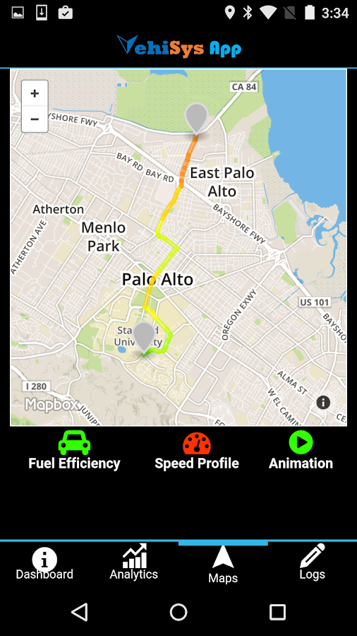 VehiSys Vehicle Data Analytics- screenshot