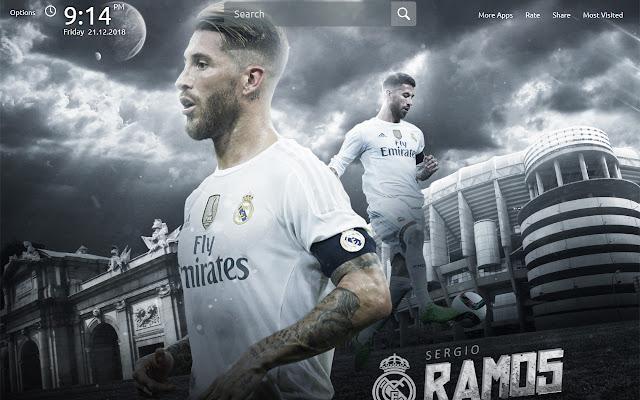 Sergio Ramos Wallpapers Theme New Tab