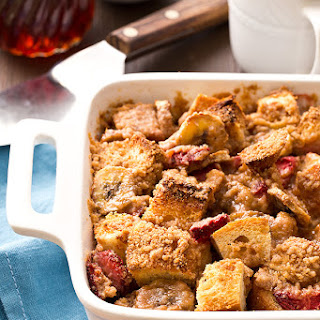 Overnight Strawberry Banana French Toast Bake