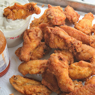 Kicked Up Chicken Wings With Blue Cheese Dipping Sauce