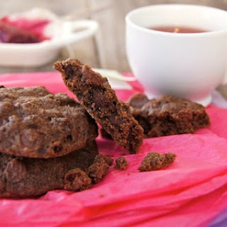 Wild Blackcurrant Chocolate Cookies