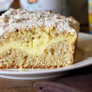 Vanilla Espresso Almond Butter and Cream Cheese Coffee Cake.