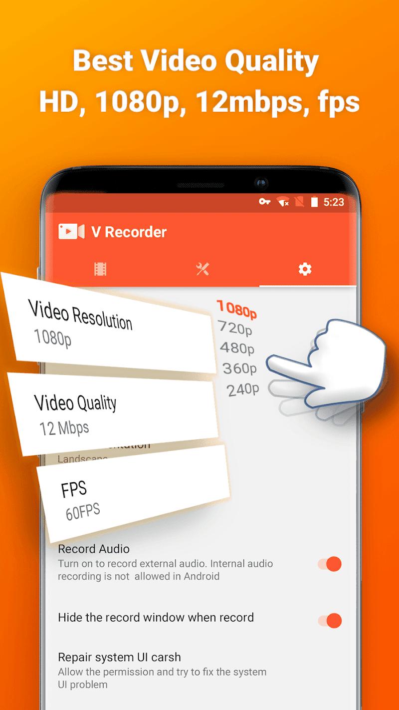 Screen Recorder V Recorder - Audio, Video Editor Screenshot 3