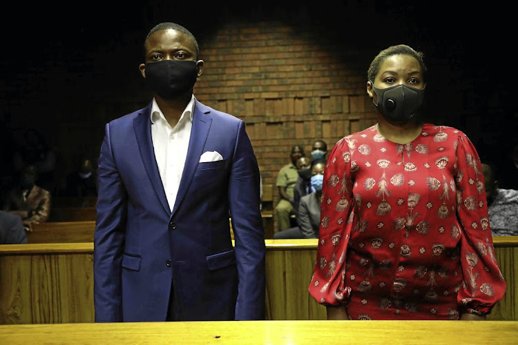 Self-proclaimed prophet and accused thief Shepherd Bushiri in court with his wife Mary before the couple skipped bail and fled to Malawi.