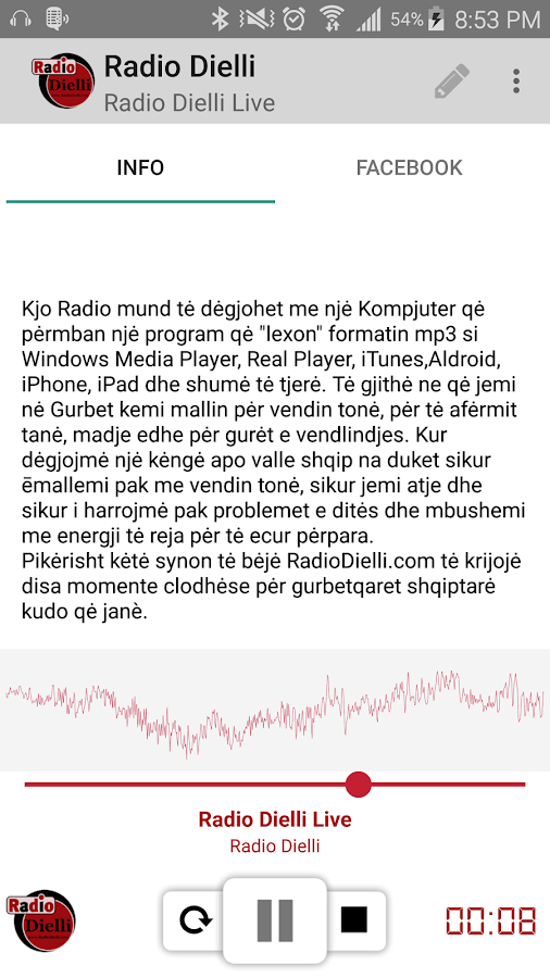Radio Dielli- screenshot