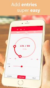 Simple Blood Pressure log screenshot 1