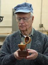 "Photo: (guest) John Creeder - ""egg"" - walnut, maple, bloodwood"