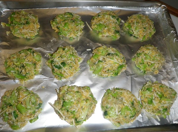 Form patties and place on baking sheet. (The mixture has a wet consistency at...