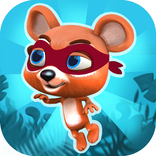 丛林 熊 跳跃 游戏 - 忍者跳跃 休閒 App LOGO-APP試玩