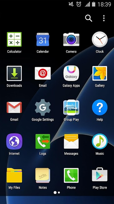 #6. S7 Launcher -Galaxy S7 launche (Android)