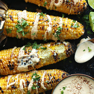 Grilled Corn with Sriracha Aioli