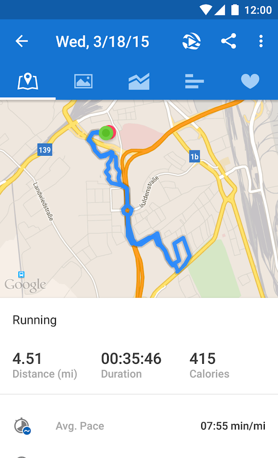 Runtastic PRO Running, Fitness- screenshot