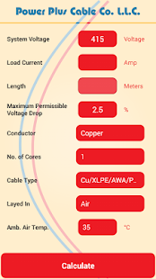 Cable size calculator apps on google play screenshot image greentooth Image collections
