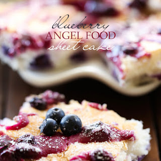 Blueberry Angel Food Sheet Cake.