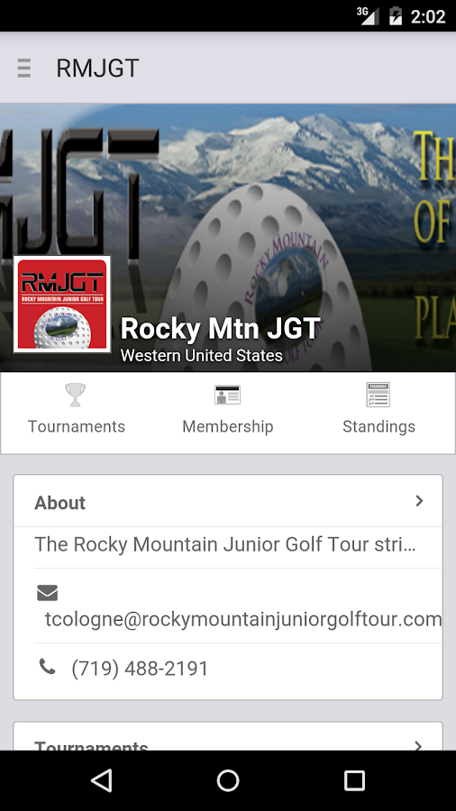 Rocky Mountain Jr Golf Tour- screenshot