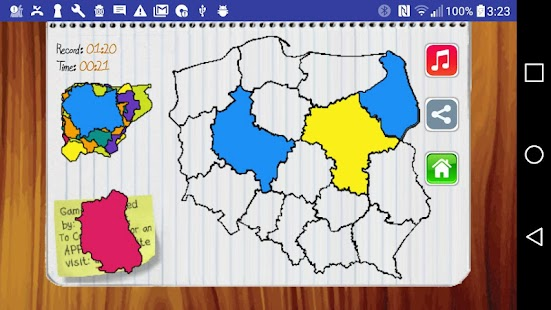 Poland map puzzle game free android apps on google play poland map puzzle game free screenshot thumbnail gumiabroncs Image collections