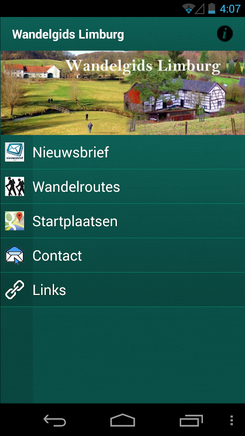 Wandelgids Limburg- screenshot