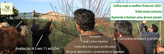 Poda em Árvores de Fruto – 6 Fev 2021 (Curso Básico 15ª edição) e 13 Fev 2021 (Curso Avançado 6ª edição)