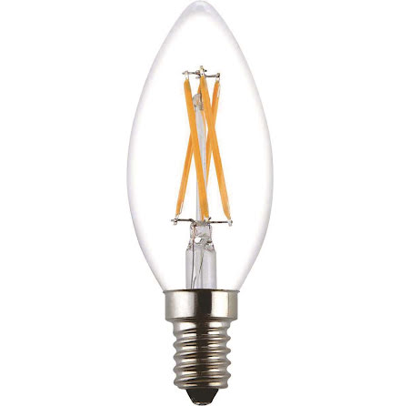 LED Lampa E14 Kron Klar