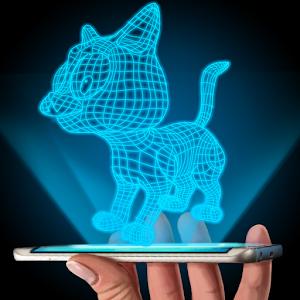 Hologram 3D Cat Simulator for PC and MAC