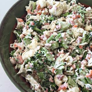 Peg's Salad - Italian Raw Veggie Salad.