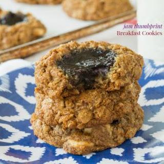 Jam Thumbprint Breakfast Cookies