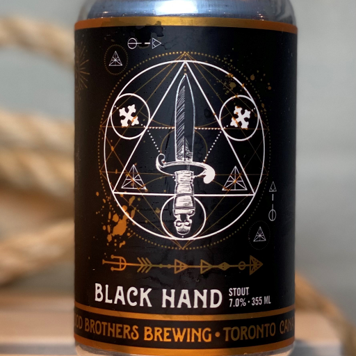 Blood Bros Black Hand Stout 355ml can 4PACK