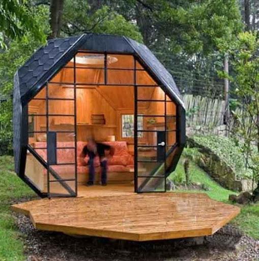 독특한 하우스 외관 디자인