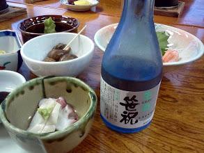Photo: 新潟。海辺の温泉宿に連れて行ってもらう、の巻。すごく美味しい日本酒だったな・・・。