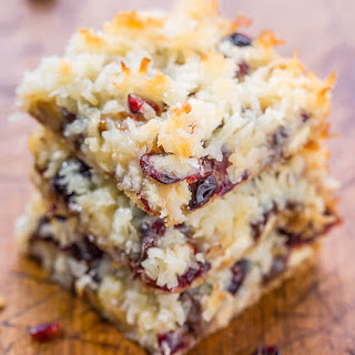 Cranberry Bliss Seven Layer Bars