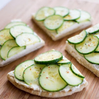 Cucumber Sandwiches Lemon Pepper Cream Cheese Recipes