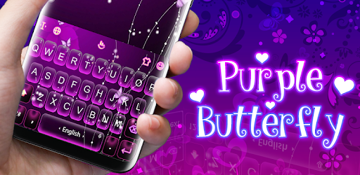 Download Purple Butterfly Keyboard Theme APK for Android ...