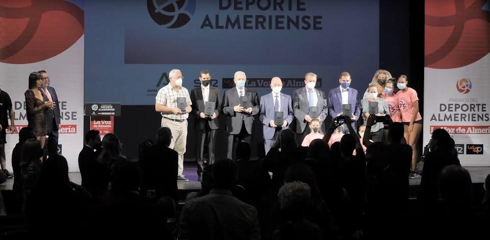 Los ganadores de los IV Premios del Deporte de LA VOZ y SER Almería.