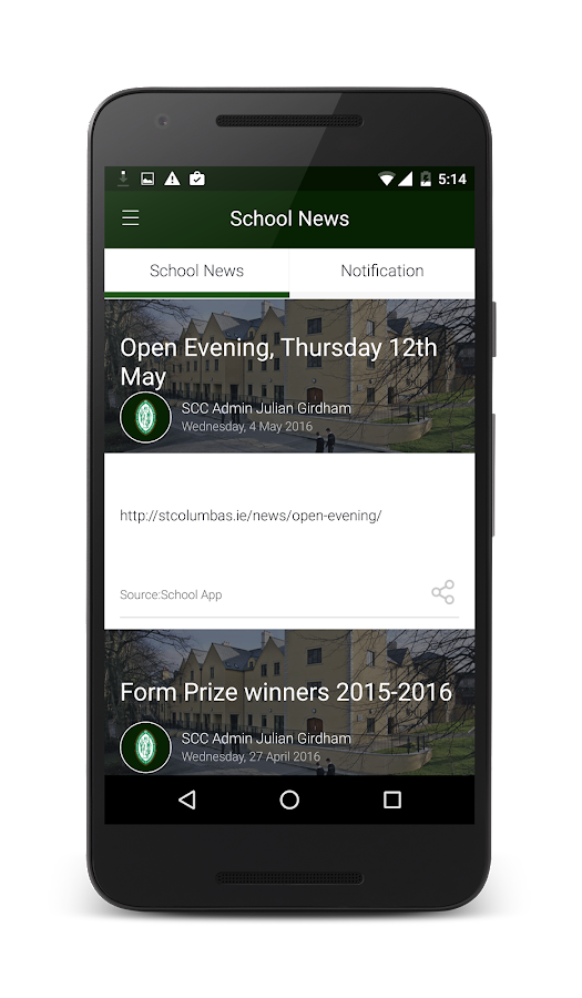 St. Columba's College- screenshot
