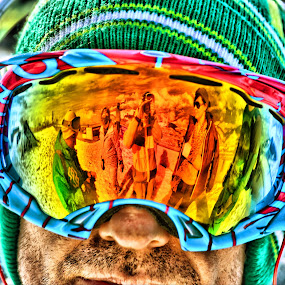 by Andrew Balsillie - Sports & Fitness Snow Sports ( , reflection, reflections, people, places, architecture, building )