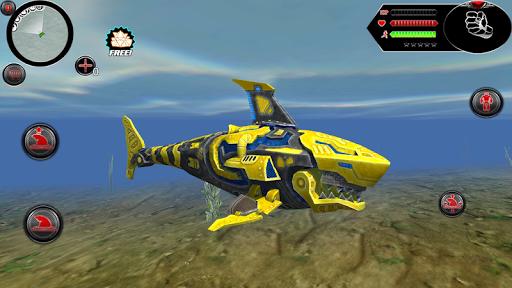 Wild Robot Shark Attack - Transforming Shark Robot 1.0 screenshots 8